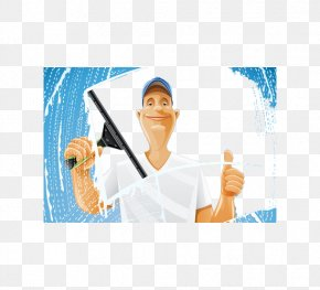 Clean The Front Pattern Of The Window - Window Cleaner Roof Cleaning Maid Service PNG