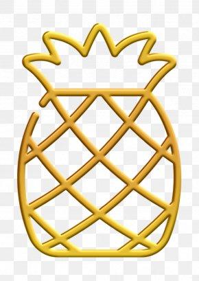 Yellow Fruit Icon - Tropical Icon Pineapple Icon Fruit Icon PNG