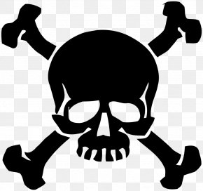Skull Samurai - Wall Decal Sticker Skull And Crossbones PNG