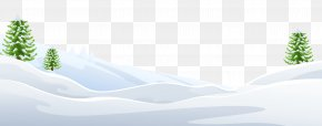 Snowy Ground With Trees Clipart Image - Winter Snow Brand PNG