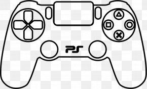 Playstation - PlayStation 4 PlayStation 3 Xbox 360 Controller Game Controllers Drawing PNG
