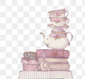 Vector Watercolor Hand-painted Cup Teapot - Teapot PNG