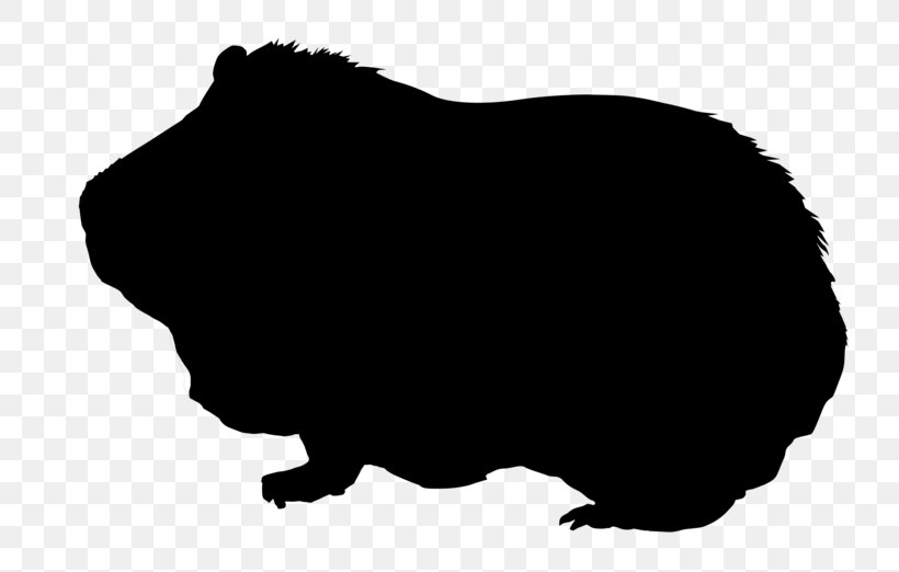 Guinea Pig Silhouette Drawing Clip Art, PNG, 800x522px, Guinea Pig, Black, Black And White, Can Stock Photo, Drawing Download Free