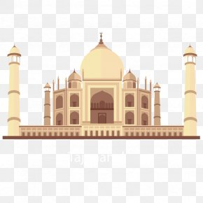 Vector Taj Mahal - Taj Mahal Landmark Illustration PNG
