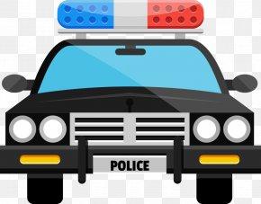 Vector Cartoon Police Car - Police Car Clip Art PNG