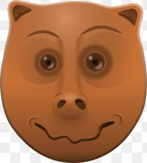 A Pig's Face - Animal Clip Art PNG