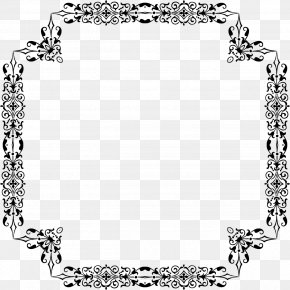 Design - Black And White Line Art PNG