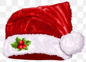 Large Transparent Christmas Santa Hat Clipart - Santa Claus Hat Santa Suit Clip Art PNG