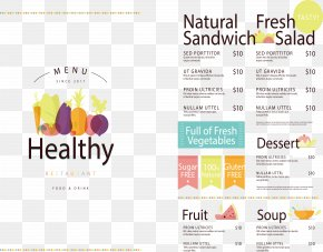 Healthy Food Menu - Vegetarian Cuisine Organic Food Menu Health PNG