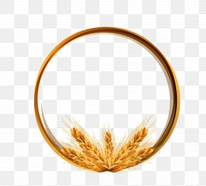 Golden Wheat Ring Vector Material - Logo Wheat Icon PNG