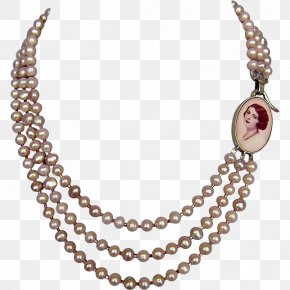 Necklace - Pearl Necklace Jewellery Earring Promotion PNG