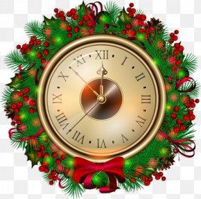 Christmas - Clip Art Christmas Clock New Year Clip Art PNG
