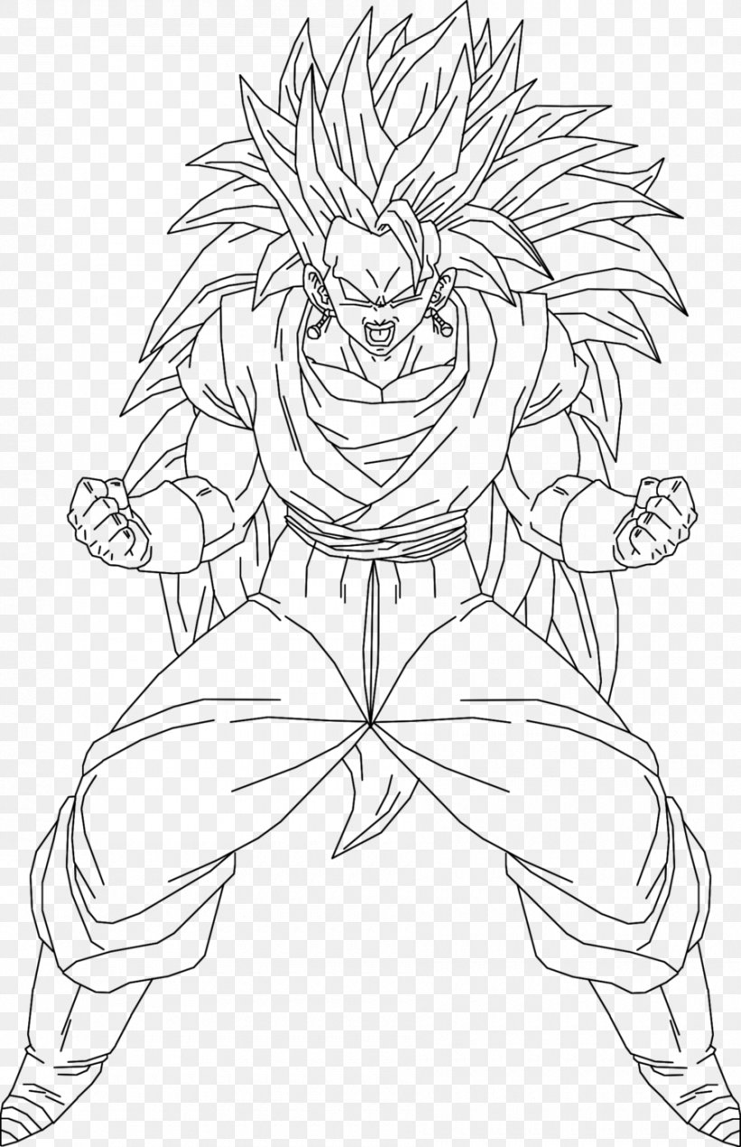 Goku Line Art Drawing Super Saiyan Vegerot Png 900x1393px