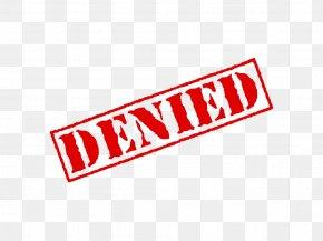 Denied Stamp Transparent - Rubber Stamp Clip Art PNG