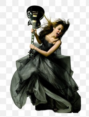 Miley Cyrus - Singer-songwriter Guitar Photo Shoot PNG