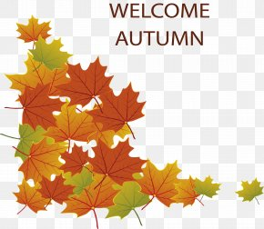 Welcome The Autumn Poster - Autumn Poster PNG