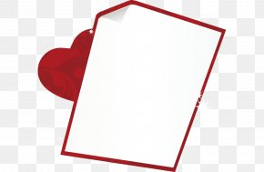 Red Heart-shaped Frame Vector - Heart PNG