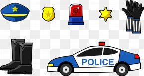 Police Supplies - Police Officer Car Badge PNG