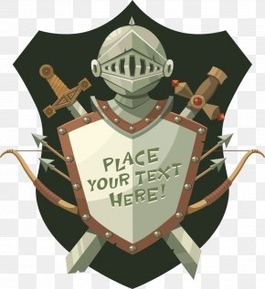 Vector Shield And The Sword - Middle Ages Knight Shield Helmet PNG