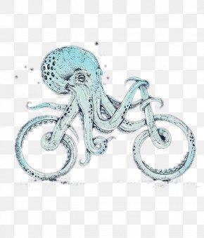 Creative IllustrationOctopus Bike - Octopus Card Creativity Illustration PNG