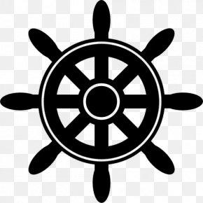 Vektor - Ship's Wheel Boat Clip Art PNG