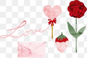 Vector Rose - Rose Valentines Day Love Watercolor Painting PNG