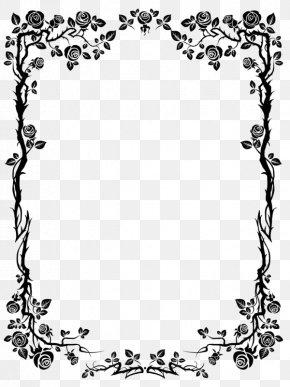 Black Rose Border - Flower Rose Royalty-free Clip Art PNG