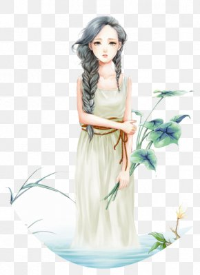 Aesthetic Creative Element Fantasy,beauty,girl - Drawing Cartoon Clip Art PNG