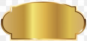 Golden Label Template Picture - Yellow Font Rectangle Design PNG