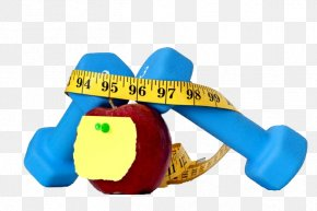An Object Ruler For Winding The Barbell And Apples - Physical Exercise Barbell Apple PNG