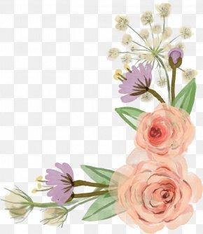 Flower Border - Flower Rose Clip Art PNG