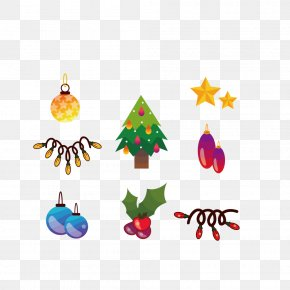 Christmas Tree Decoration Small Items - Christmas Tree Santa Claus Christmas Decoration PNG