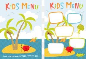 Vector Children's Menu - Fast Food Baby Food Menu Kids Meal PNG