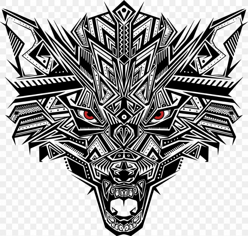 Euclidean Vector Png 2600x2478px Gray Wolf Black And