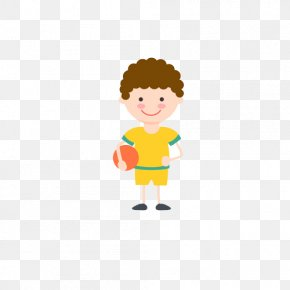 Curly Boy - Football Drawing PNG