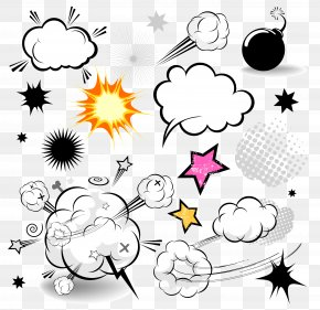 Vector Cloud Comics Explosion Dialog - Comics Speech Balloon Cartoon Comic Book PNG