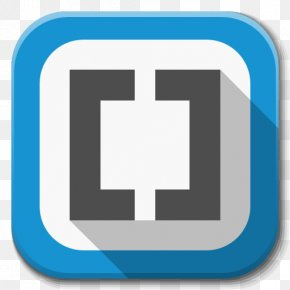 Apps Brackets - Blue Square Symbol Trademark PNG