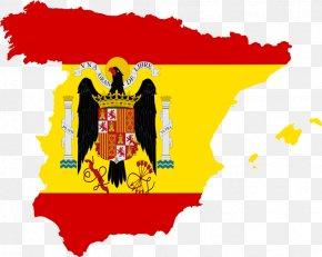 Spain Flag - Francoist Spain Spanish Civil War Flag Of Spain Nationalist Faction PNG