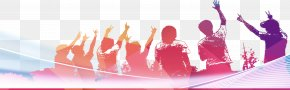 Pink Youth Silhouette Figures - Silhouette Graduation Ceremony PNG