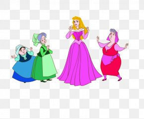 Sleeping Fairy Cliparts - Princess Aurora Flora, Fauna, And Merryweather Fairy Godmother Clip Art PNG