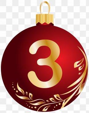 Three - Christmas Ornament Ball Clip Art PNG