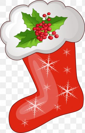 Transparent Christmas Red Stoking Clipart - Christmas Stocking Clip Art PNG