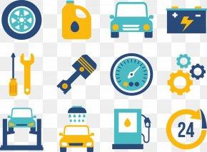 Motor Mechanical Separation Workshop Logo View - Car Electric Motor Clip Art PNG