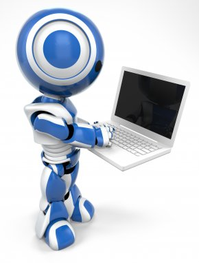 Computer Blue Cliparts - Laptop 3D Computer Graphics Personal Computer Clip Art PNG