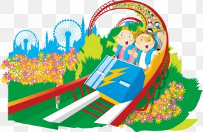Happy Roller Coaster PNG