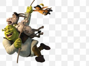 Shrek - Shrek The Third Donkey Puss In Boots Gingerbread Man Princess Fiona PNG