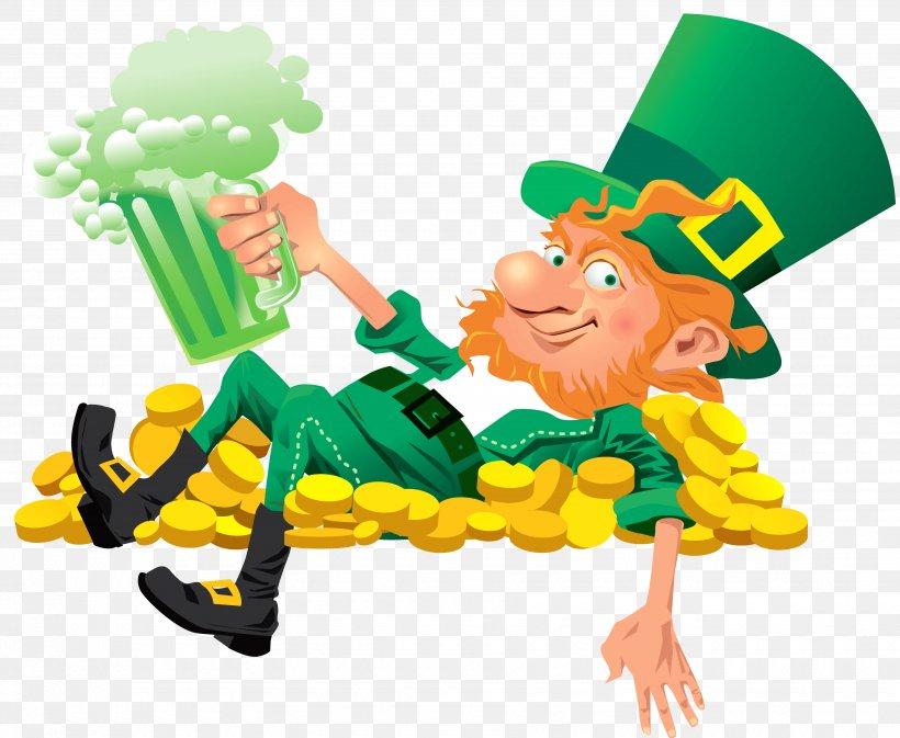 Ireland Leprechaun Saint Patrick's Day Clip Art, PNG, 3500x2875px, Ireland, Fictional Character, Flag Of Ireland, Human Behavior, Legendary Creature Download Free