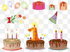 Various Elements Birthday - Birthday Cake Wedding Invitation Clip Art PNG