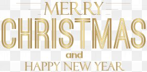 Lovely Text - Christmas New Year's Day Clip Art PNG