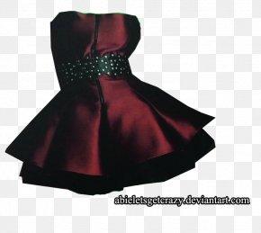 Burgundy Skirt Banquet Evening Dress - Cocktail Dress Skirt Formal Wear PNG
